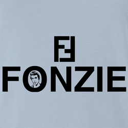 Funny The Fonz From Happy Days parody t-shirt white