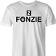 Funny The Fonz From Happy Days parody t-shirt white men's