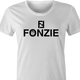 Funny The Fonz From Happy Days parody t-shirt white women's