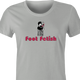 funny Foot Fetish Feet Lover t-shirt women's Ash Grey
