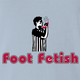 funny Foot Fetish Feet Lover light blue t-shirt