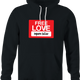 funny free love, inquire below parody black hoodie