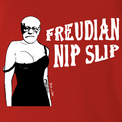 white sigmund freud t-shirt