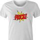 funny Frick - Pow! Comic Book What the Frick Meme Parody white women's t-shirt