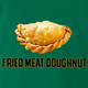 Funny Empanada aka Fried Meat Doughnut Parody Kelly Green T-Shirt