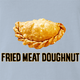 Funny Empanada aka Fried Meat Doughnut Parody Light Blue T-Shirt