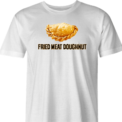 Funny Empanada aka Fried Meat Doughnut Parody White Men's T-Shirt