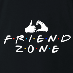 funny in the friend zone t-shirt white men's