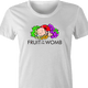 Funny pregnancy expecting mother t-shirt - Fruit of the Womb women's white