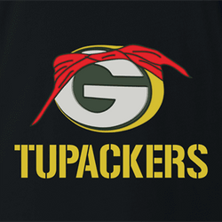 Funny Green Bay Packers 2pac mash up men's t-shirt