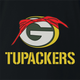 Funny Green Bay Packers 2pac mash up black t-shirt