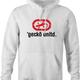 Gecko car insurance and Ecko Apparel funny hoodie men's white