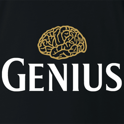 Funny Genius guinness beer men's white t-shirt