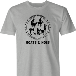 Funny Goats and Hoes farm men's t-shirt