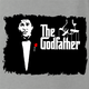 funny Old School Godfather Mitch Martin Ash Grey t-shirt