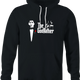 funny Old School Godfather Mitch Martin black hoodie