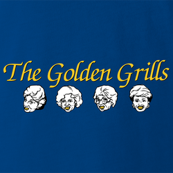 funny Golden Girls TV Sitcom and Grills For Teeth Parody Mashup men's t-shirt