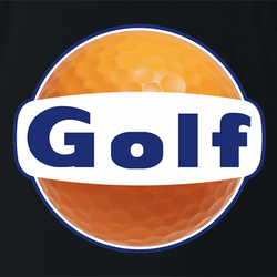 Funny mini golf gulf parodyt-shirt white men's
