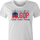 funny Impeach Trump Republican GOP political parodys t-shirt white women's