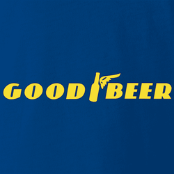 Funny Good Beer and Goodyear Tires parody t-shirt white men's
