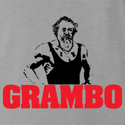 funny Rambo Grandfather Grambo Parody white men's t-shirt