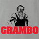 funny Rambo Grandfather Grambo Parody ash grey t-shirt