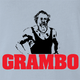 funny Rambo Grandfather Grambo Parody Light Blue t-shirt