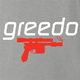 funny Greedo Speedo Star Wars Mashup ash grey tee
