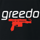 funny Greedo Speedo Star Wars Mashup black t-shirt