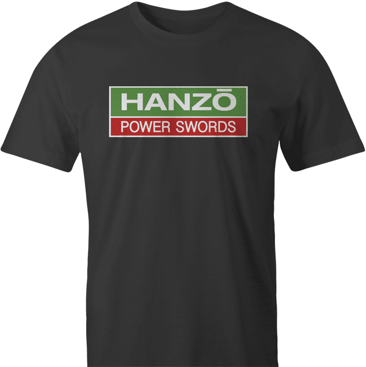 hattori hanzo hitachi power swords men's black t-shirt