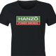 hattori hanzo hitachi power swords women's black t-shirt