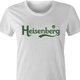 Funny breaking bad heisenberg carlsberg beer women's white t-shirt