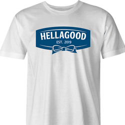 funny Hellmans mayonaisse Hellagood t-shirt white