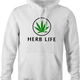 Weed Cannabis Herbal Life Parody hoodie white