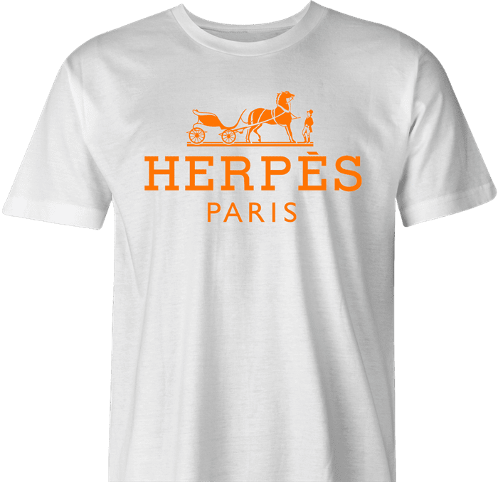 Funny Herpes hermes fashion wear  black men's tshirt