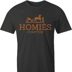 Funny homies compton homes fashion wear black men's tshirt