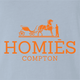 Funny homies compton homes fashion wear light blue t-shirt