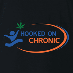hooked on chronic phonics weed t-shirt white