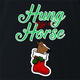 funny and Hilarious horse stocking stuffer for x-mas and christmas holiday season  Parody t-shirt black