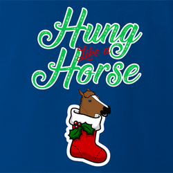 funny and Hilarious horse stocking stuffer for x-mas and christmas holiday season  Parody men's t-shirt white