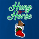 funny and Hilarious horse stocking stuffer for x-mas and christmas holiday season  Parody t-shirt Royal Blue