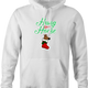 funny and Hilarious horse stocking stuffer for x-mas and christmas holiday season  Parody white hoodie