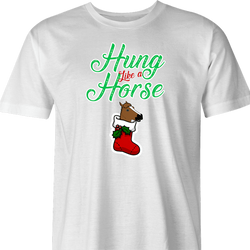 funny and Hilarious horse stocking stuffer for x-mas and christmas holiday season  Parody t-shirt white