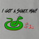 Funny adam sandler I have a snake man men's grey t-shirt