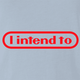 funny i intende to nintendo light blue t-shirt