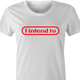 funny i intende to nintendo white women's t-shirt