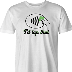 tap pay t-shirt men's white