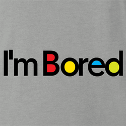 Funny I'm bored billboard mashup men's t-shirt