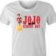 funny Chris Farley JoJo the idiot circus boy SNL parody t-shirt white women's