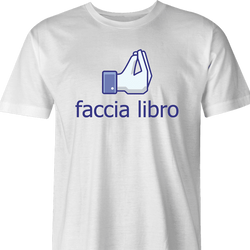 funny facebook t-shirt white